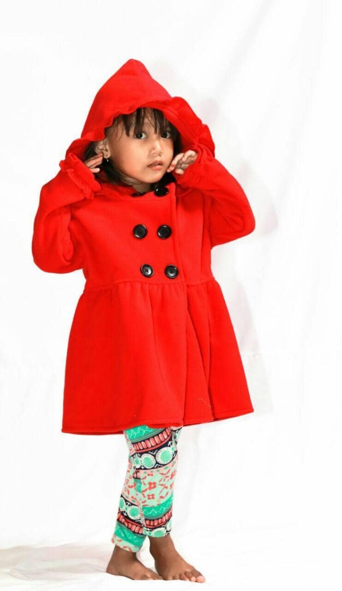 Jaket Anak Perempuan Bahan Lembut Merah