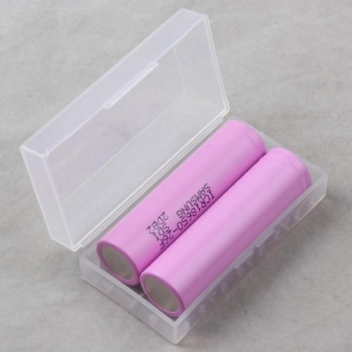 Foto Produk Transparent Battery Case for 18650 / Tempat Baterai 16430 dari Riz-store