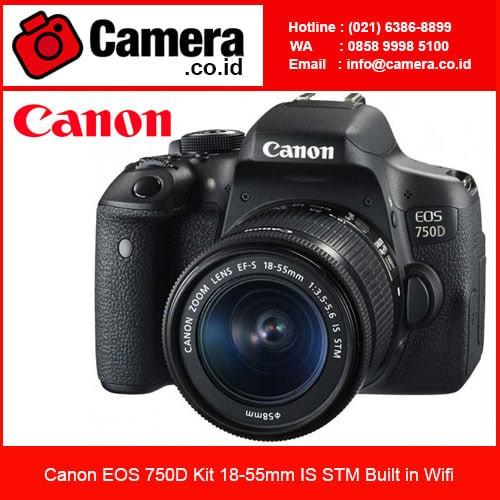 harga Canon eos 750d kit 18-55mm is stm kamera slr canon Tokopedia.com