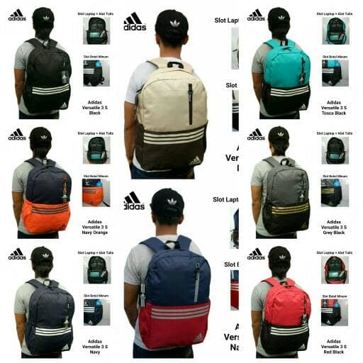 harga Tas ransel adidas versatile 3 s / tas sekolah / tas nike / tas murah Tokopedia.com