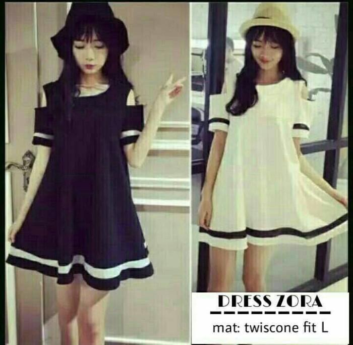 Harga Black And White Dress Travelbon.com