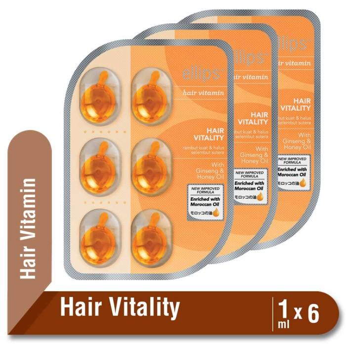 harga Multipack x3 ellips hair vitamin moroccan oil hair vitality blister Tokopedia.com