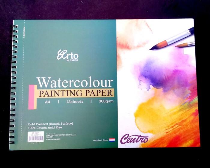 Jual Arto Watercolour Painting Paper Ring A4 300gsm Cotton Buku Gambar Kota Bandung Centro Trading Tokopedia