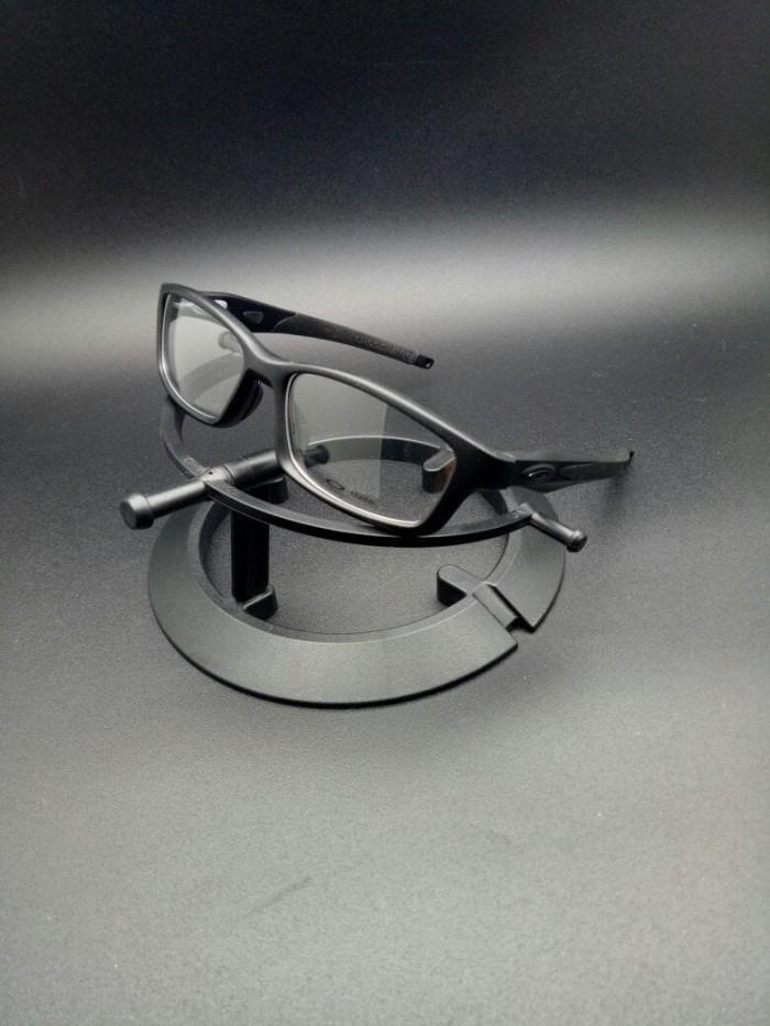 Frame Kacamata Oakley Crosslink Black Doff Frame Baca Kacamata Minus 857a8d04d9