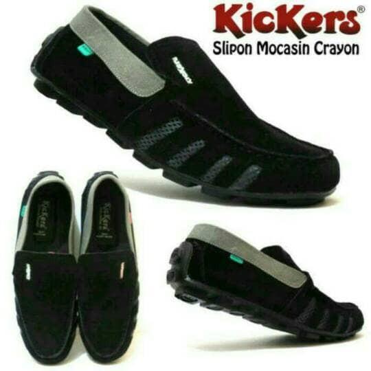 Jual best seller sepatu pria casual slip on kickers cek harga di ... ea8e96d706
