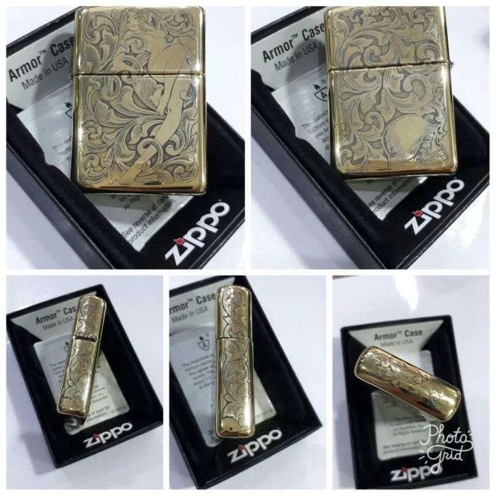 harga Original Zippo Armor Lady Arabesque 5 Sides Tokopedia.com