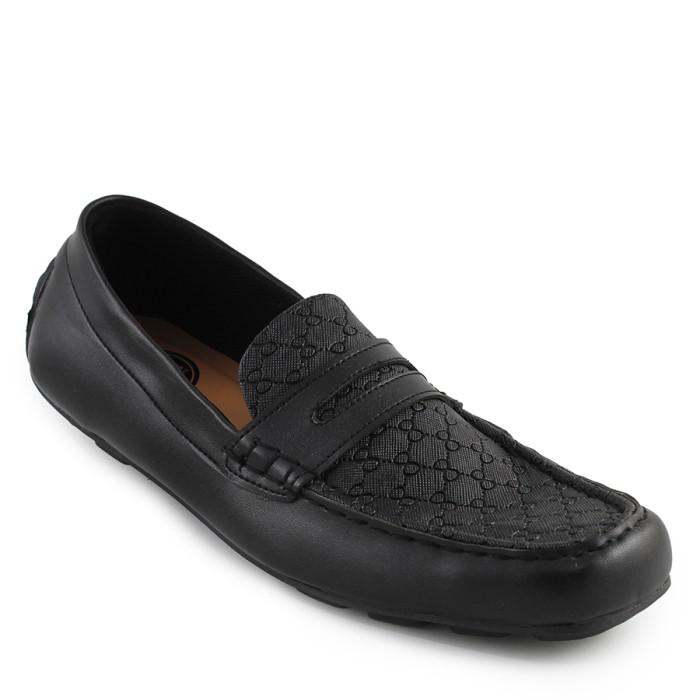 harga Sepatu pria walkers mocasin slop black casual formal santai kerja Tokopedia.com