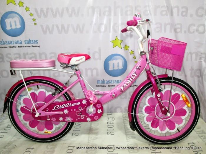 harga 16in family lilies ctb sepeda anak perempuan usia 4 - 7 tahun Tokopedia.com