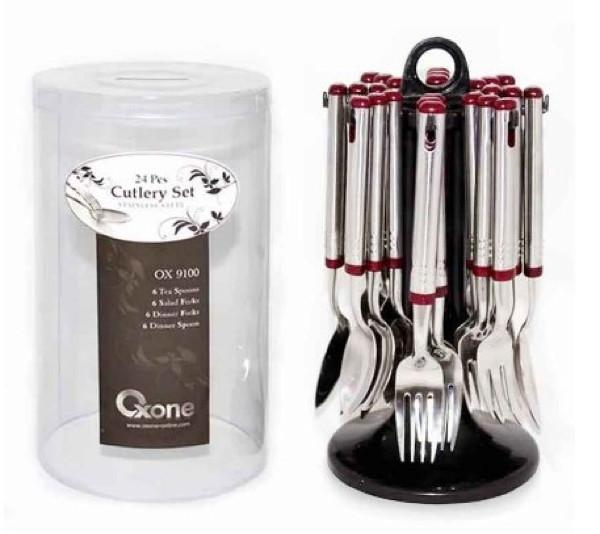 Sendok dan garpu set oxone 24pcs ox 9100