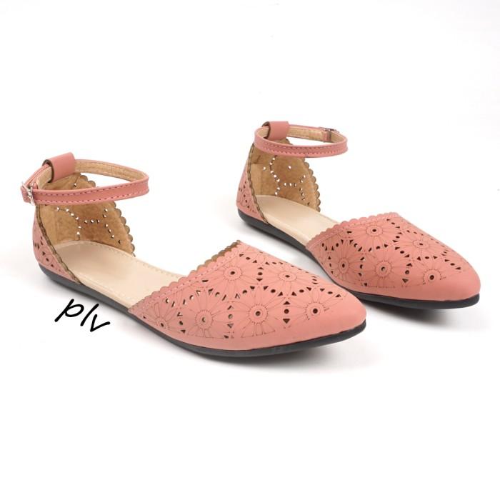 harga Sepatu flat shoes wanita tali ps04 - salem Tokopedia.com