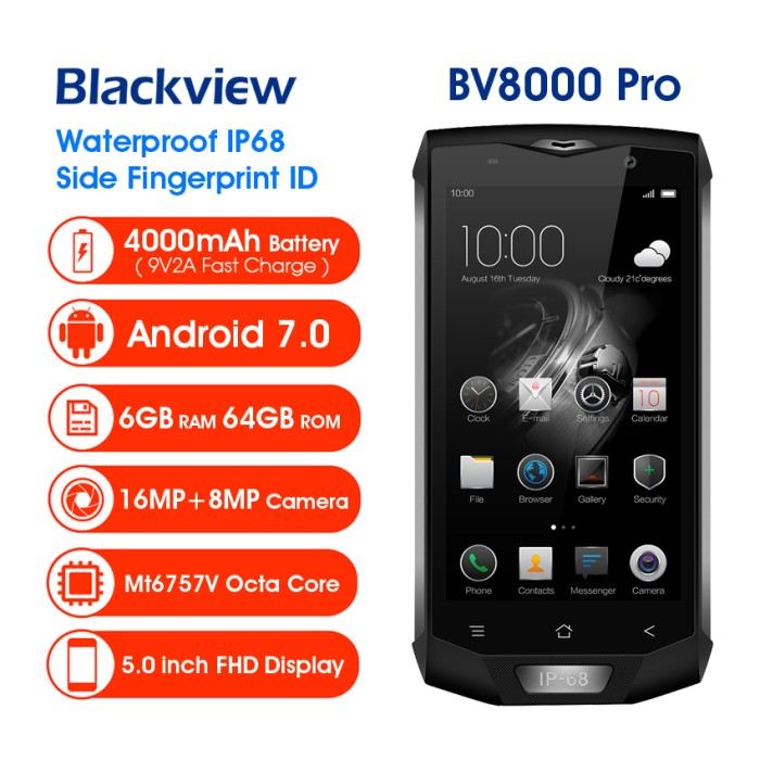 harga Blackview bv8000 pro 64gb ram 6gb. hp tahan banting & air / hp outdoor Tokopedia.com