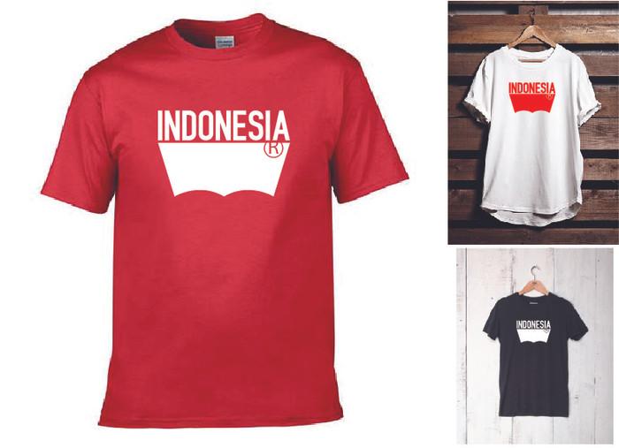 harga Kaos t-shirt levis indonesia (merah hitam putih) Tokopedia.com