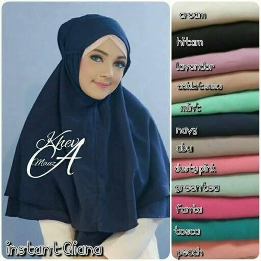 harga Hijab kerudung jilbab instan khimar rubiah daily aisyah kcb instan qia Tokopedia.com