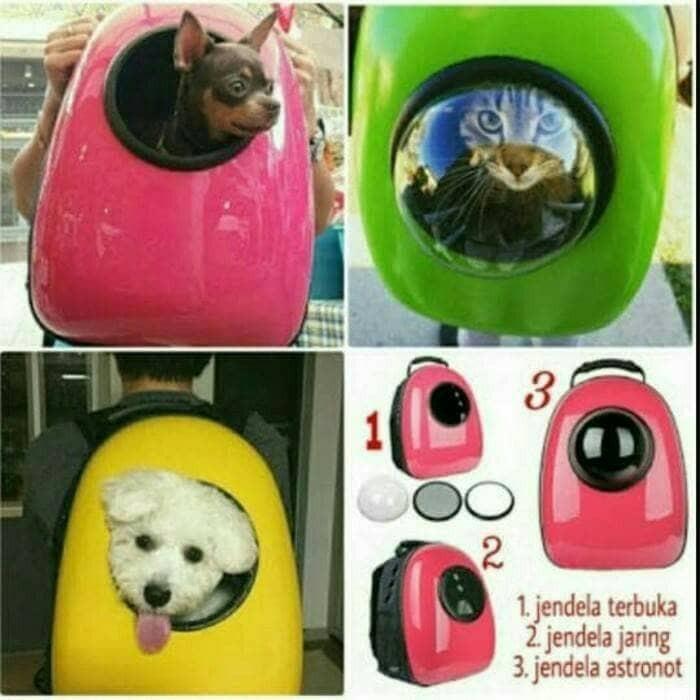 Tas Astronot Kucing / Anjing - Ransel Untuk Membawa Hewan
