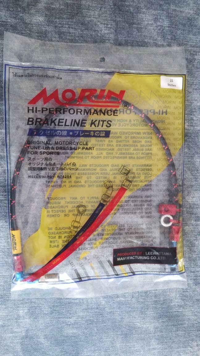 Foto Produk Selang rem MORIN belakang serat hitam/merah dari RPM MOTO