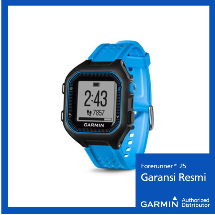 harga Garmin forerunner 25 black/blue - jam outdoor hitam biru Tokopedia.com