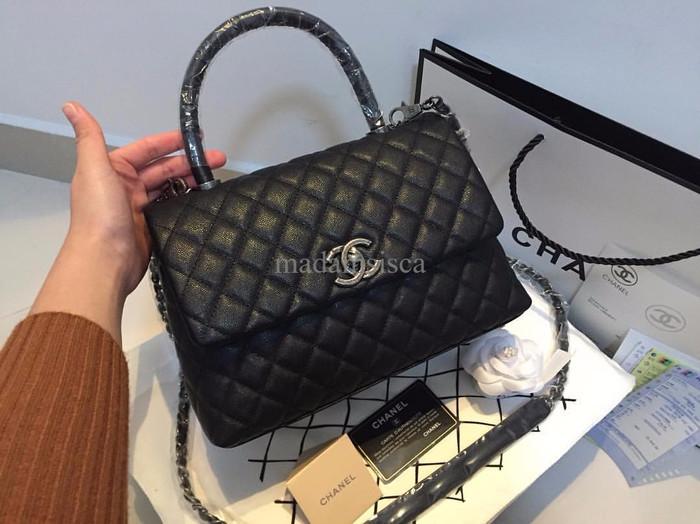 Jual Tas Branded Kw Super Mirror Ori Chanel Coco Handle Lizard 1 1 48a45e565a