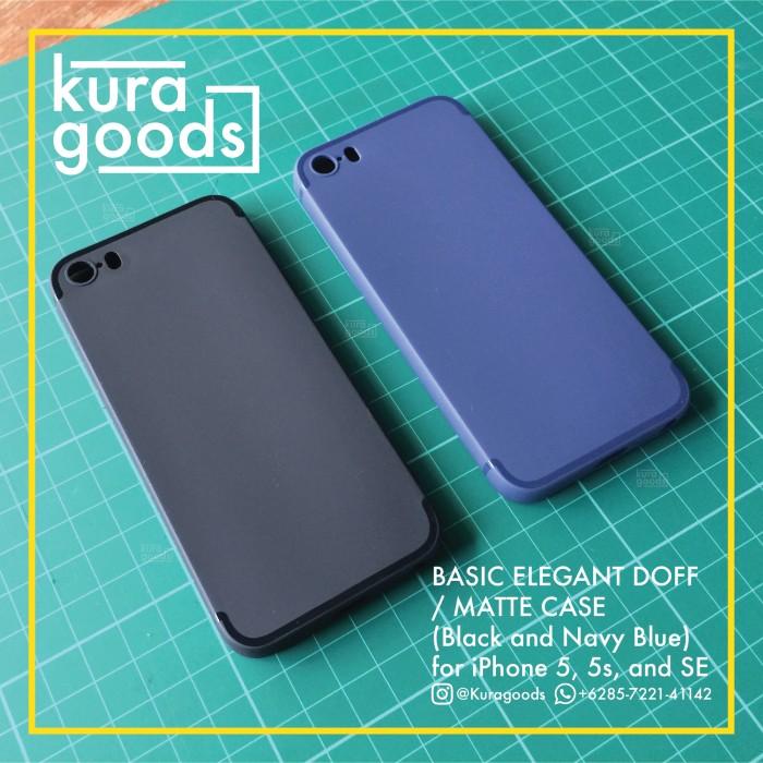 Jual Slim DOFF   MATTE Softcase Thin Case for iPhone 5 5s SE ( Black ... 6107fcc556