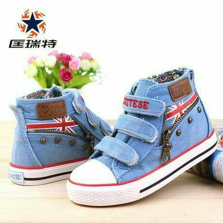 sepatu YESO 19-30 balita anak walker import jeans toddler modern shoes