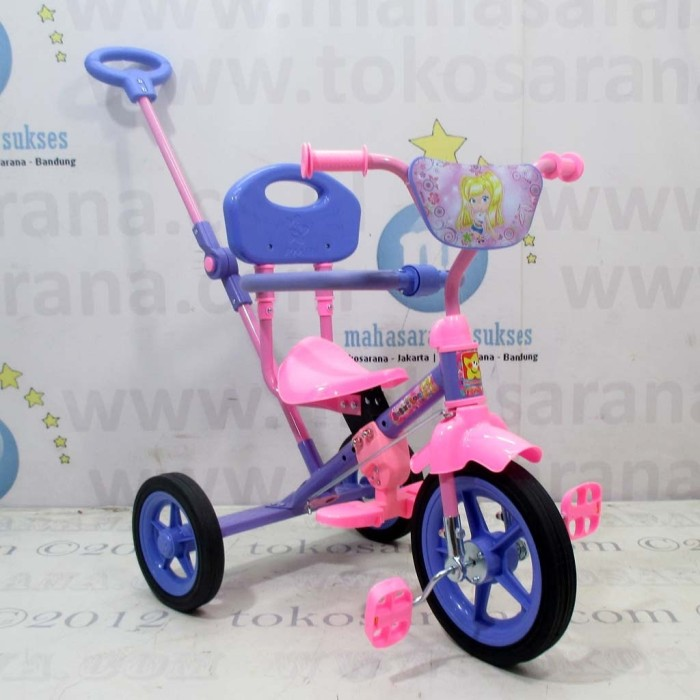 harga Pmb 921 safari bmx tricycle with safety bar and rod steering Tokopedia.com
