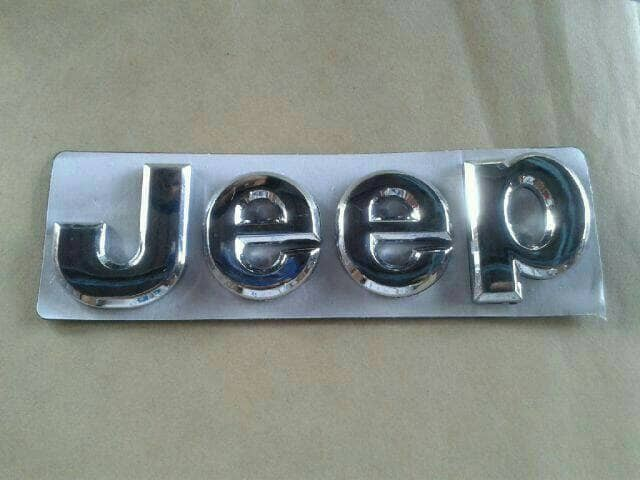 harga Emblem tulisan jeep besar 14 cm chrome Tokopedia.com