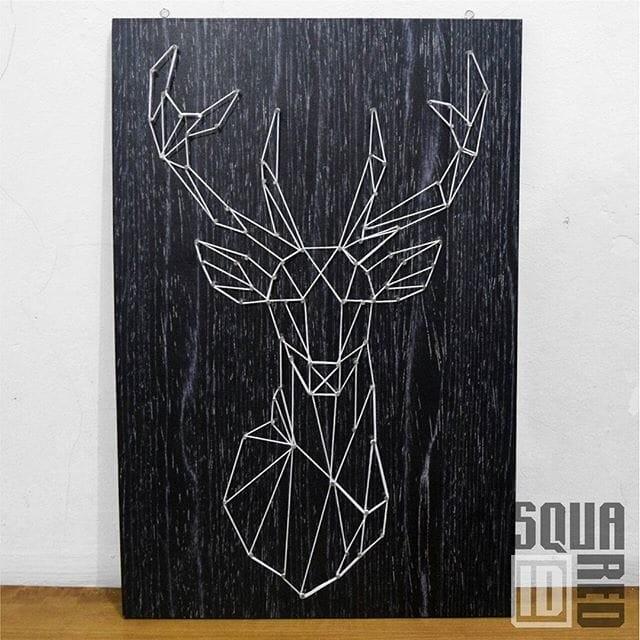Foto Produk String Art / Wall art / Hiasan Dinding dari Squared id
