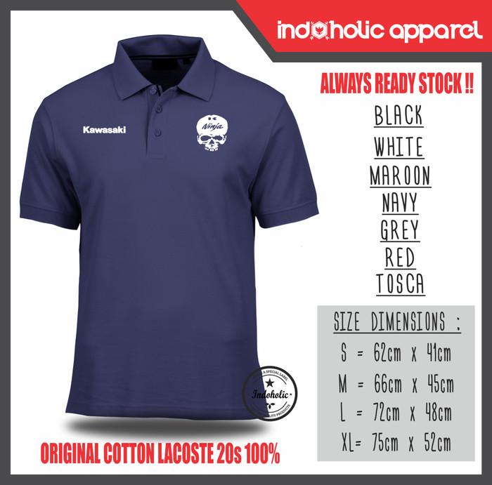 harga Kawasaki ninja polo shirt kaos kerah Tokopedia.com