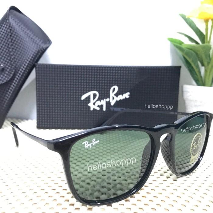 5028eef4f5996 ... harga Kacamata rayban chris black glossy lensa kaca   sunglasses kaca  mata Tokopedia.com