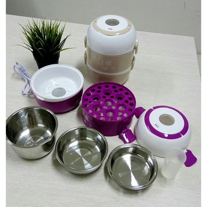Rice Cooker Mini 3 Susun kapasitas 2 L - Penanak Nasi Mini Egg Boiler