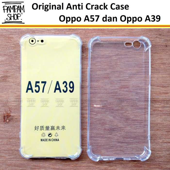 Case TPU Anti Crack Oppo A39 A 39 Ultra Thin Anti Pecah Benturan
