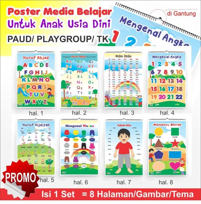 Jual Poster Belajar Untuk Paud Playgroup Tk Seperti Kalender
