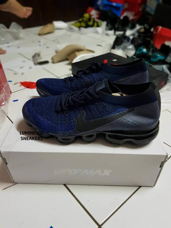 793dcba9231e8 Jual Nike Air Vapormax Flyknit Midnight Navy - lumineuse
