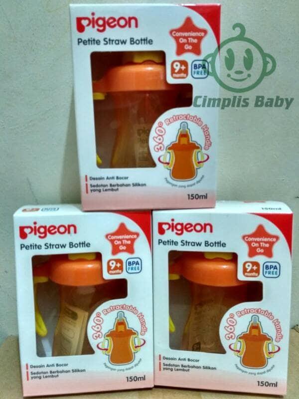 Foto Produk Pigeon Petite Straw Bottle - Orange dari Cimplis Baby