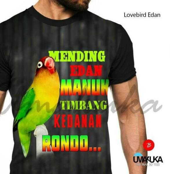 harga Love bird edan kaos 3d burung fullprint Tokopedia.com