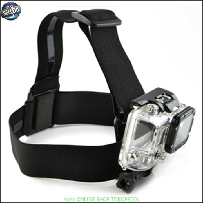 harga Elastic adjustable head strap with simple anti-slide glue black y1626 Tokopedia.com