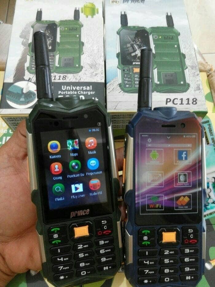 NEW HANDPHONE HP ANDROID MURAH PRINCE PC 118 3G BISA POWER BANK