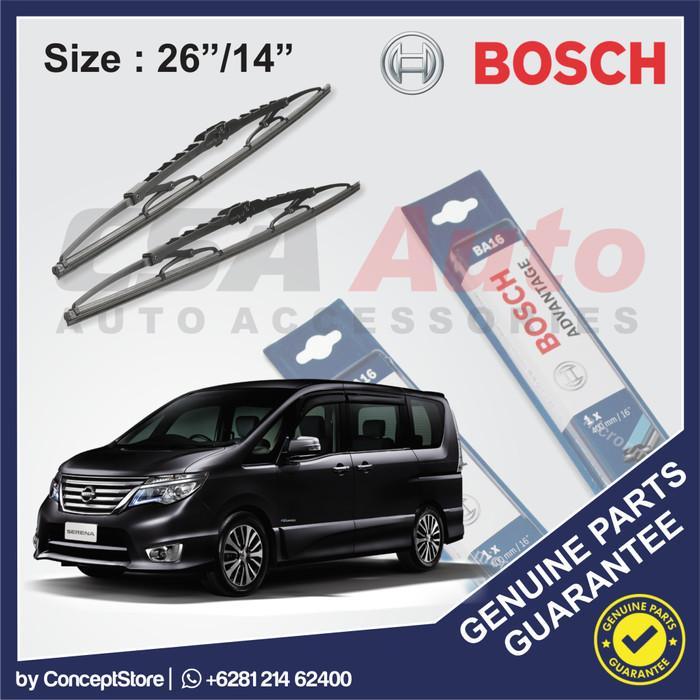 harga Wiper nissan serena c26 bosch advantage size 26 /14 Tokopedia.com