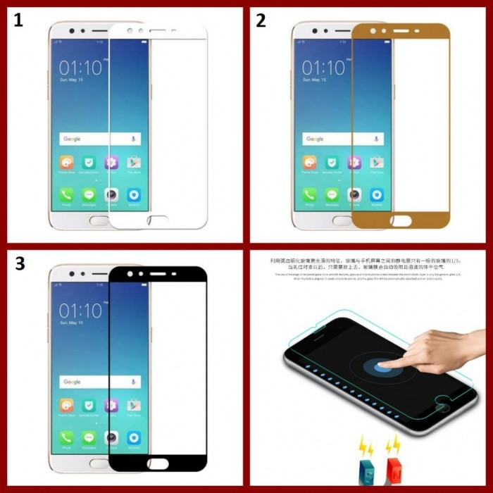 Jual Tempered Glass Warna Oppo F3 Plus Anti Gores Kaca Warna Oppo