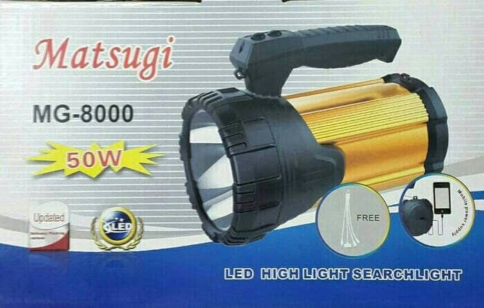 harga Lampu senter led matsugi mg-8000 50w Tokopedia.com