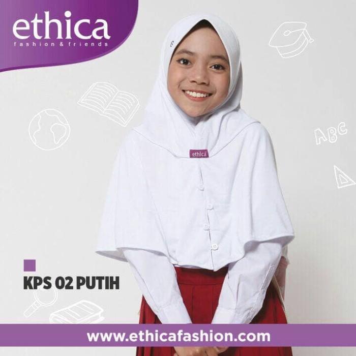 harga Promo kerudung jilbab putih sekolah ethica kps 02 Tokopedia.com