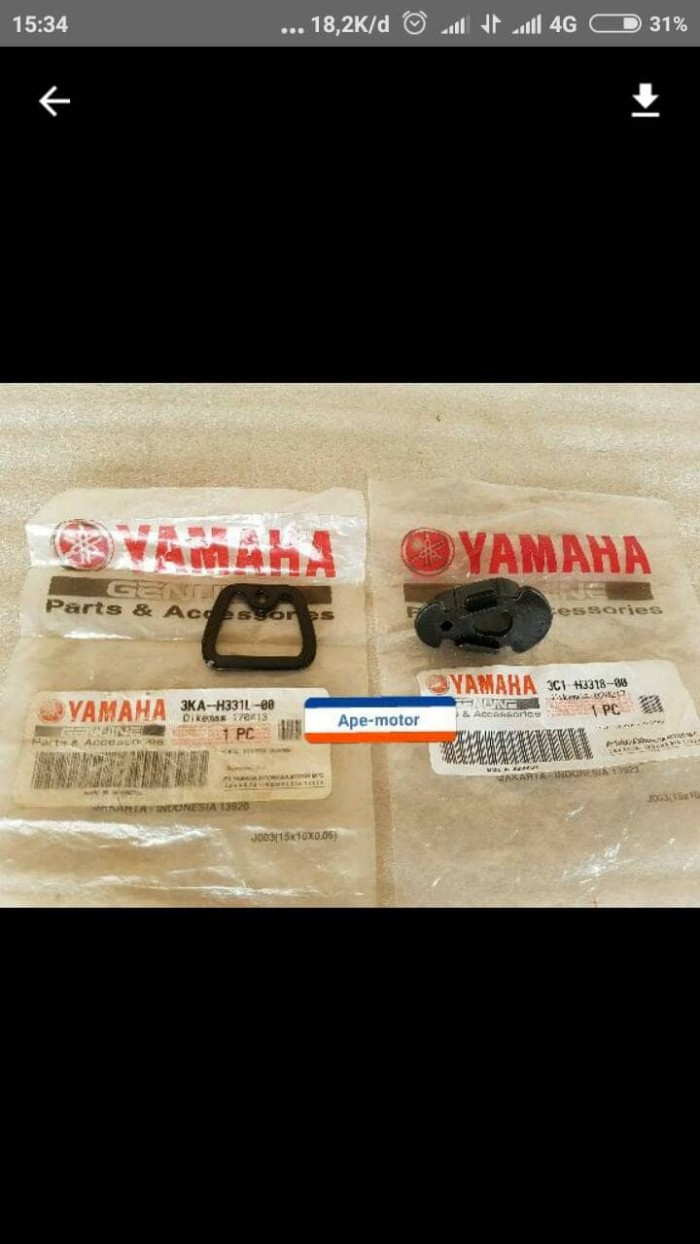 harga Plat pengunci karet sen vixion/byson/rx king original yamaha Tokopedia.com