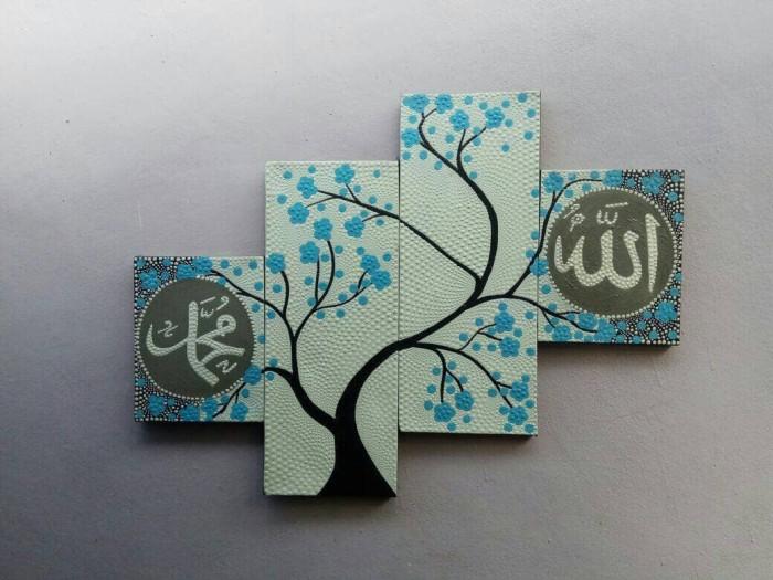 harga Lukisan panel kaligrafi sakura biru Tokopedia.com
