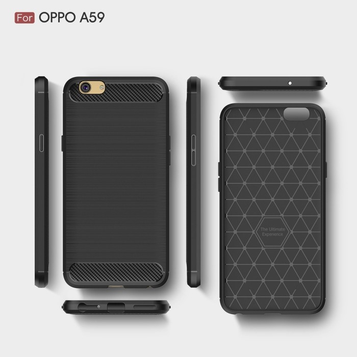 Hard Soft Case Oppo F1s A59 Casing HP IPAKY Carbon Armor Silikon Cover .