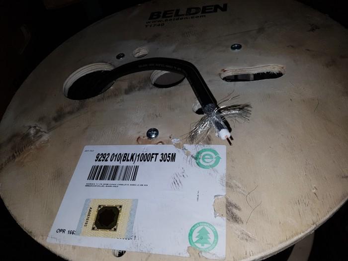 harga Belden 9292  coaxial rg11  75 ohm  14 awg black jacket (305 mtr) Tokopedia.com