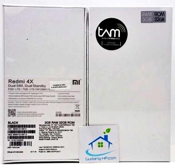 Jual Xiaomi Redmi 4X Prime 3GB 32GB Black Garansi Resmi