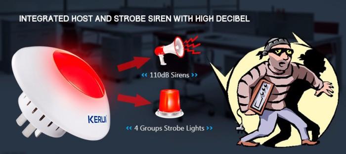 harga Kerui wireless flashing siren alarm red light strobe siren 433 mhz. Tokopedia.com