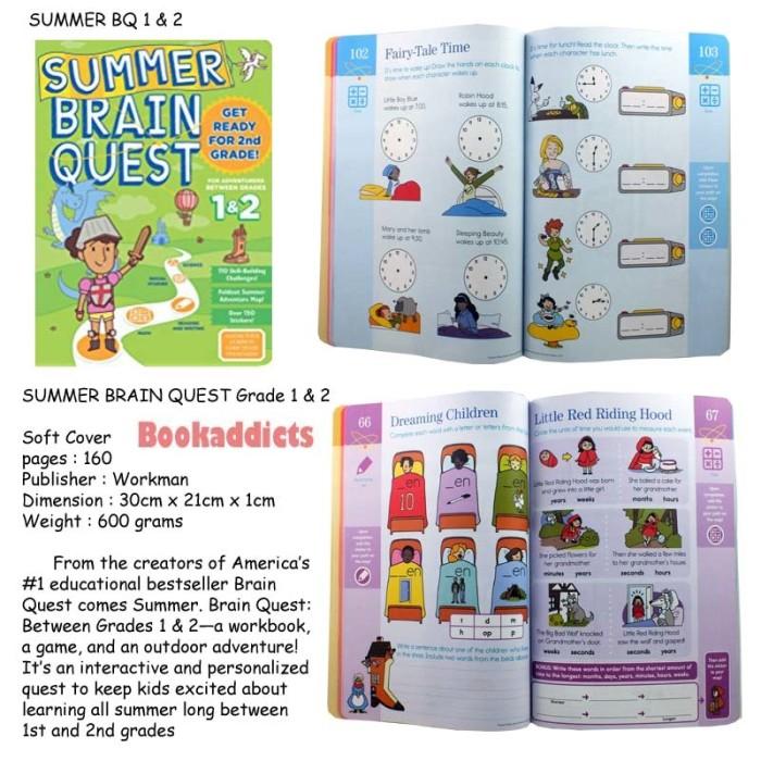 harga Summer brain quest work book 1 & 2 Tokopedia.com