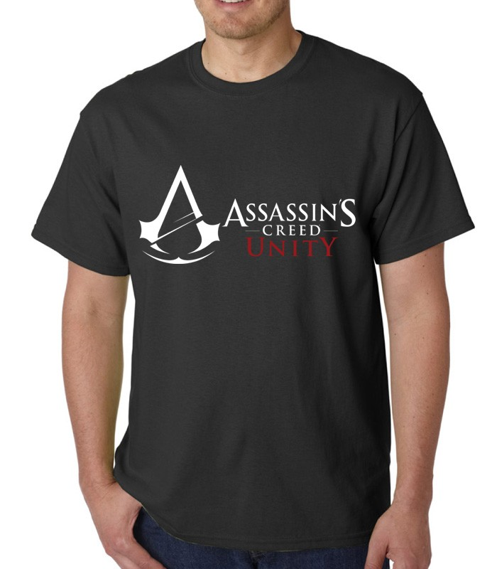 Jual T Shirt Kaos Assassins Creed Unity Logo Basic Kota