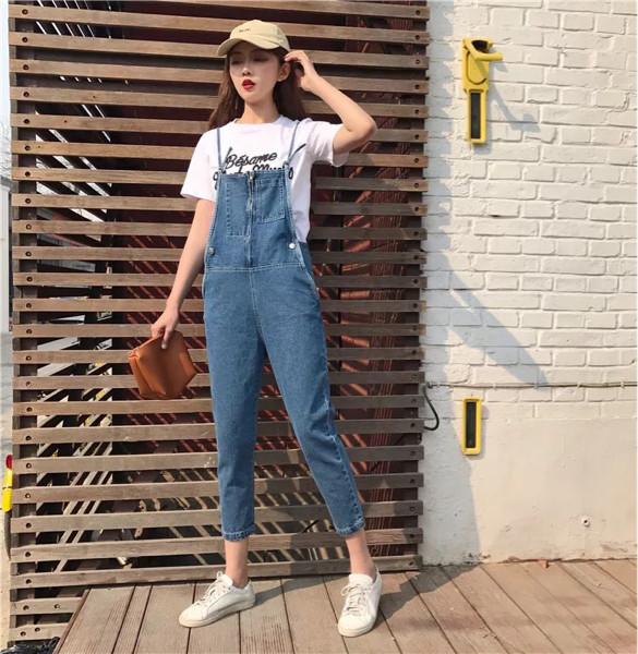 harga Denim jumpsuit korea | baju monyet jeans fashion celana panjang tali Tokopedia.com
