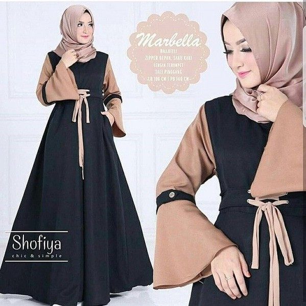 harga Grosir baju long dress muslim wanita murah dan terbaru / marbella dres Tokopedia.com